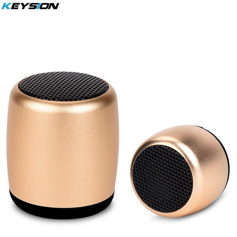 KEYSION Mini Portable Rechargeable Wireless Bluetooth Speaker Stereo SoundBox loudspeaker with Selfie Remote Shutter Control ufo shape portable mini rechargeable bluetooth v2 1 speaker black orange