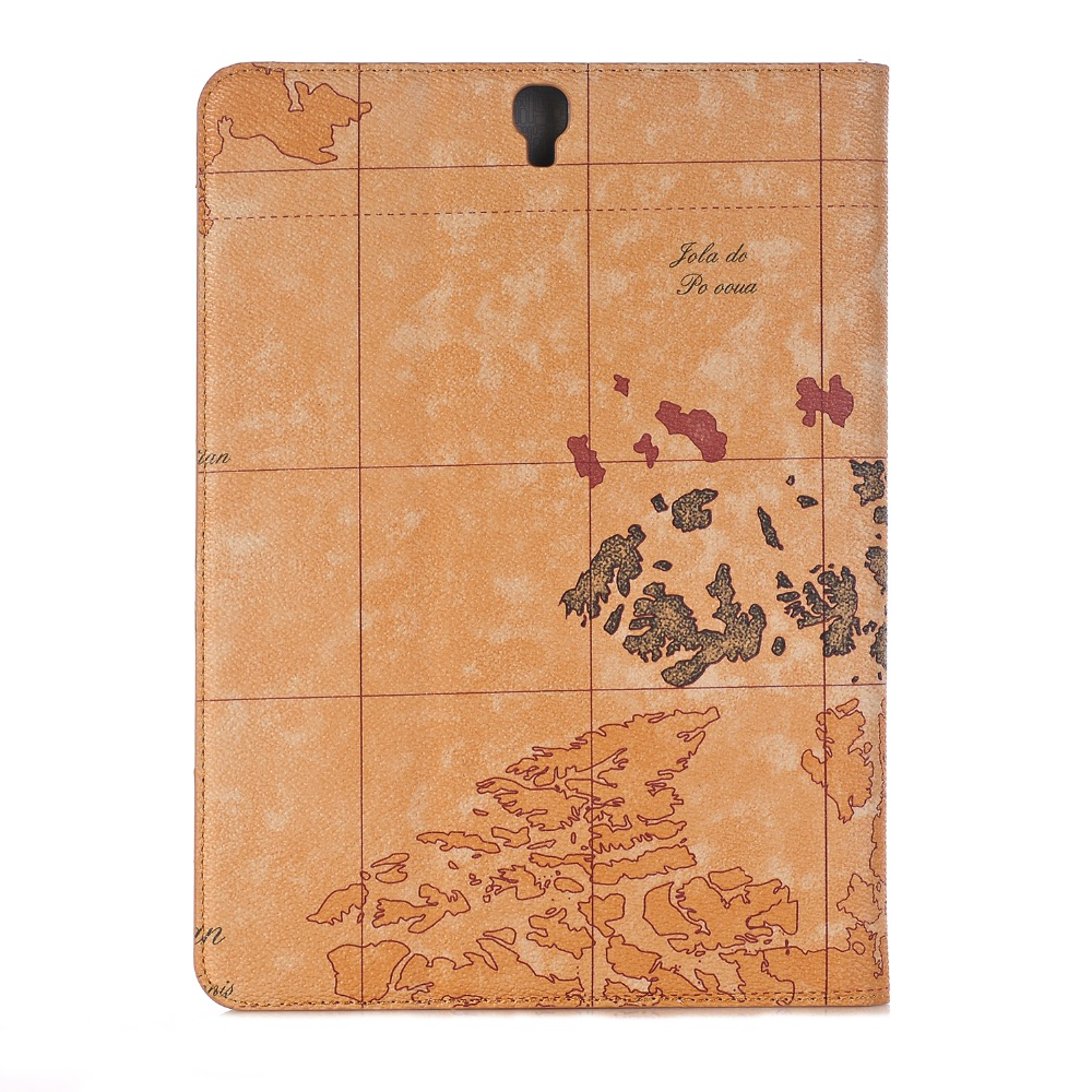 High Quality World Map PU Leather Case For Samsung Galaxy Tab S3 9.7 SM-T820 SM-T825 Cover For Samsung Galaxy Tab S3 9.7 Case