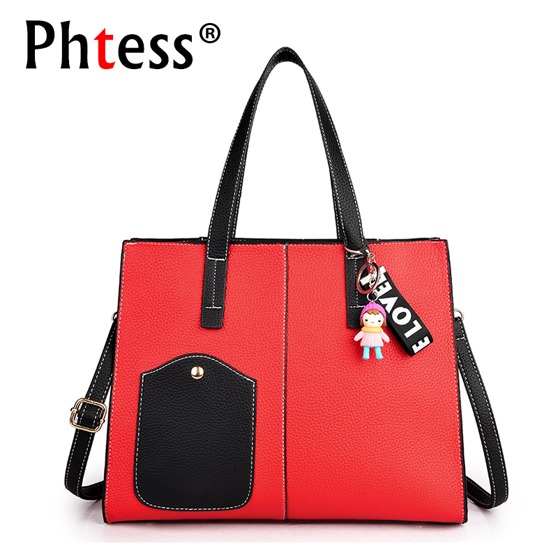 2018 Women Top Handle Tote Bag Female Leather Handbags Famous Brand Sac a Main Ladies Hand Bags Vintage Shoulder Bags For Girls new fashion style belt top handle bags women bags handbags women famous brands oil skin solid soft female casual tote sac a main