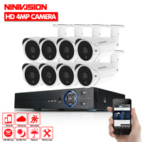 Home HD 8CH CCTV System 1080P DVR 8PCS 1080P 3000TVL IR Outdoor Video Surveillance Security Camera