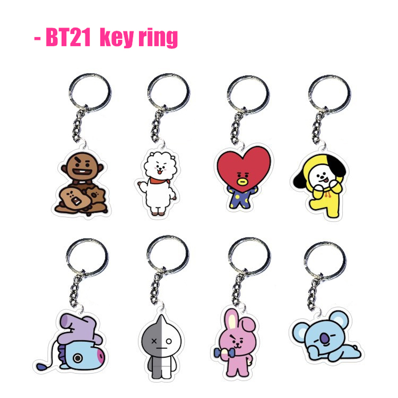 Hoodies & Sweatshirts Bt21 Plush Doll Pendant Key Ring Kpop Bts Bangtan Boys Korean Style Fashion Soft Keychain Phone Accessories Bag Ornament Keyring Cheap Sales 50%