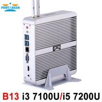 B13 Partaker Bez Wentylatora Komputer Stacjonarny Mini PC I3 I5 7100U 7200U Okna 10 Max 16G RAM 512G SSD 1 TB HDD Darmo 300 M WiFi 1.5 M HDMI