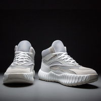 New high top sports basketball shoes men's shoes, fashion design, generous trend, non slip outsole, comfortable sports basketbal
