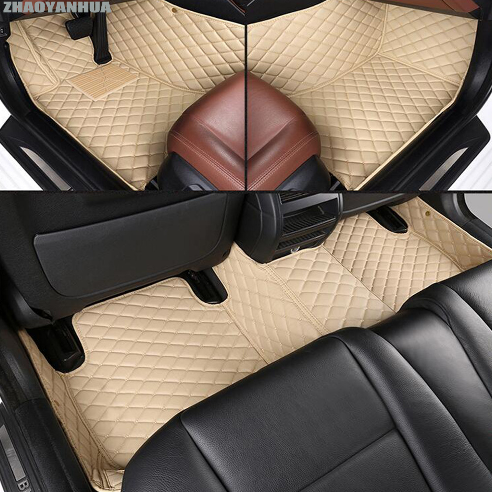 ZHAOYANHUA car floor mats for Volkswagen Beetle Eos Golf Jetta Passat sharan leather Anti-slip car-styling carpet liner car usb sd aux adapter digital music changer mp3 converter for volkswagen beetle 2009 2011 fits select oem radios