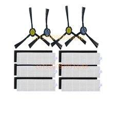 Odkurzacz hepa filter brush zestawy zamienne do ILIFE A7 A9s części do robota odkurzającego, filtry i szczotki boczne