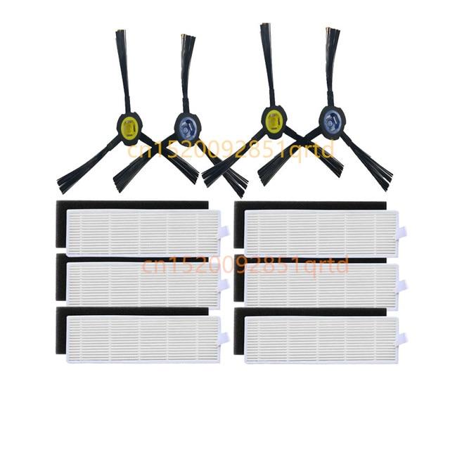 真空クリーナー hepa フィルターブラシの交換キット ilife A7 A9s ロボット掃除機パーツ、フィルターとサイドブラシ