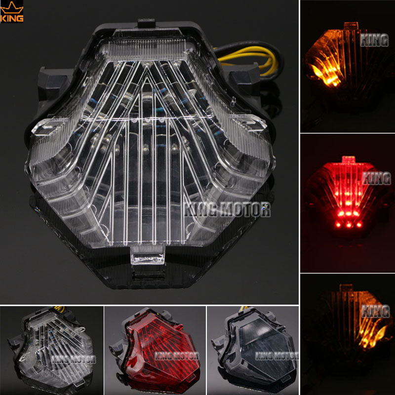 For YAMAHA MT-07 FZ-07 MT07 FZ07 2014-2016 Motorcycle Accessories Integrated LED Tail Light Turn signal Blinker Lamp Clear for yamaha fz 09 mt 09 fj 09 mt09 tracer 2014 2016 motorcycle integrated led tail light brake turn signal blinker lamp smoke