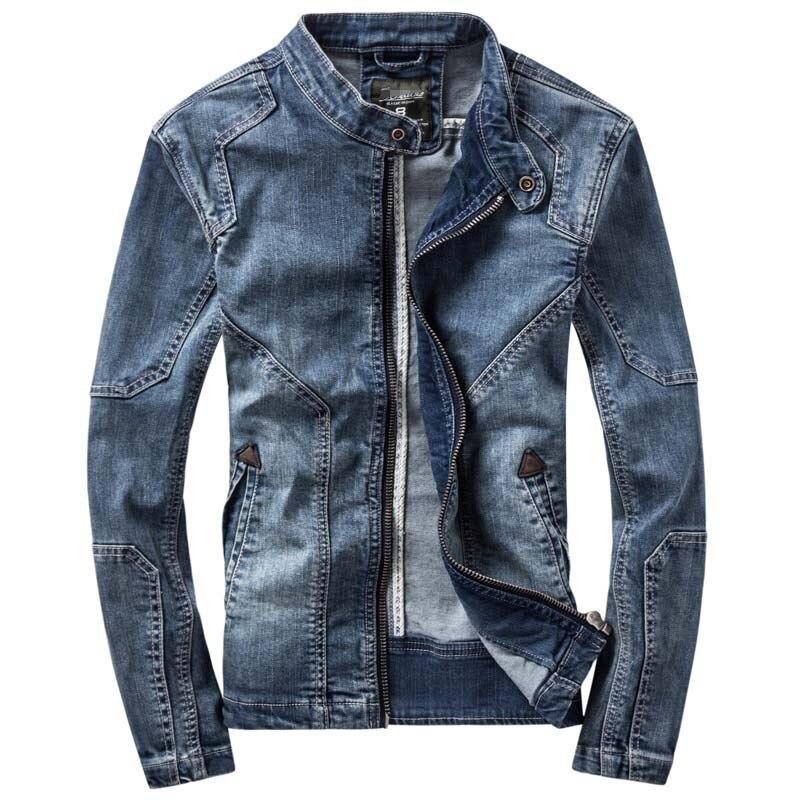 Новинка Ретро классика джинсовая куртка Мужская винтажная одежда повседневные тонкие куртки мужские пальто джинсовые куртки размера плюс M-3XL - Цвет: Blue