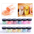 12 Colors 1 pc Crushed Shell Chips Powder Dust Glitter For Nails Polish Gel UV Acrylic 3D Tips Nail Art Decoration Tools 32083