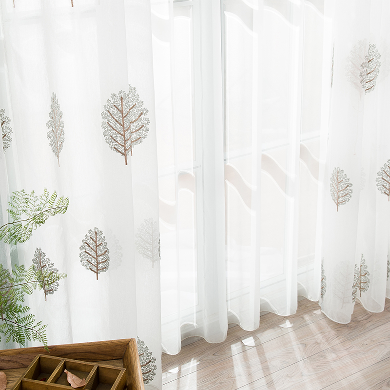 High Quality Embroidered Curtain Bedroom Window Tulle