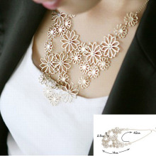New women's fashion romantic temperament sweater chain camellia flowers