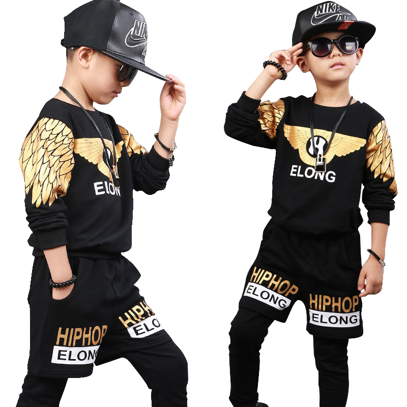 low priced 79d09 7d89c US $21.29 29% OFF|KIds Children Ballroom Print Modern Jazz Hip Hop Dance  wear Boys Dance Costumes Top&Pants-in Clothing Sets from Mother & Kids on  ...