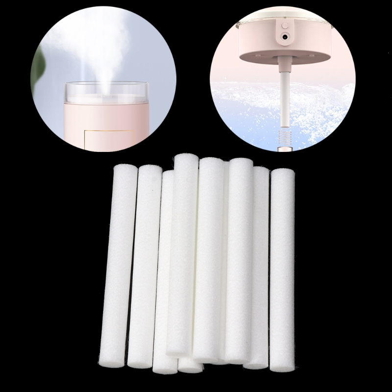 10Pcs 8mmx70mm Humidifiers Filters Cotton Swab for Humidifier Aroma Diffuser