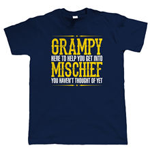 Grampy Mischief Mens Funny T Shirt, Birthday Fathers Day Gift for Grandad New T Shirts Funny Tops Tee New  free shipping цена и фото