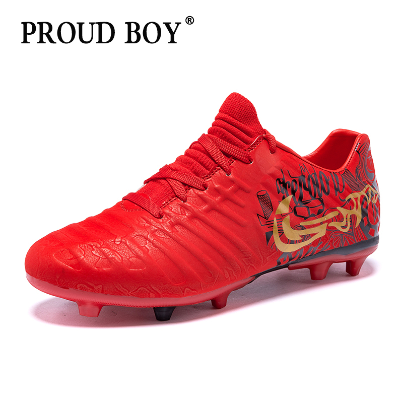 Professional Indoor Soccer Shoes  High Quality Football Boots Training Cleats Men's Sneakers hot sale Waterproof Kids size 34-44(China)