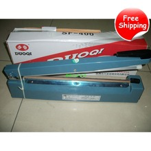 FREE SHIPPING 220V 200/300/400mm Manual Impulse Sealer Heat Seal Machine Poly PVC Plastic