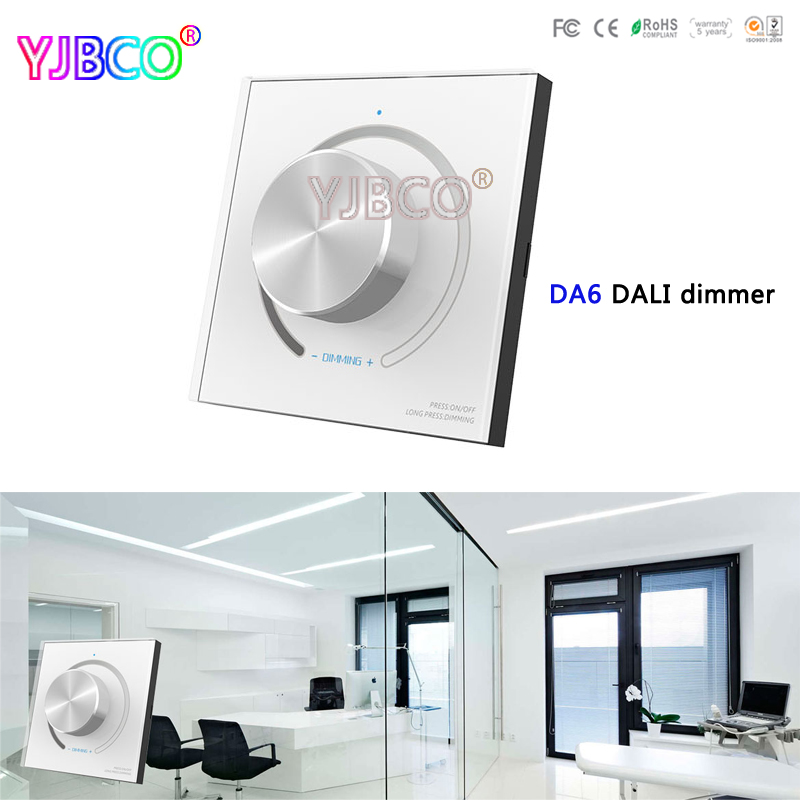 led DALI Controller DA6 LED Wall Mount Knob Panel led DALI Dimmer,LT-454-5A constant voltage LED dimming driver for led strip dali signal led dimmer 350ma fluorescent constant current high voltage ac110 240 led dali dimming controller