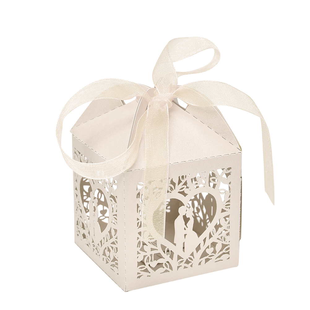 2017 New 10pcs Pretty Married Wedding Favor Box Gift Boxes Candy ...