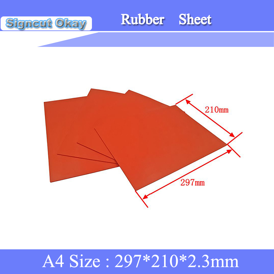 5pcs Lot Stamp Rubber Size 210 297 2 3mm Rubber Sheet Used