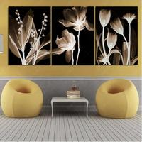 3 Pcs Painting Art Abstract Flowers Home Decor Canvas Print Modular Picture Quadro Mural Wall Pictures