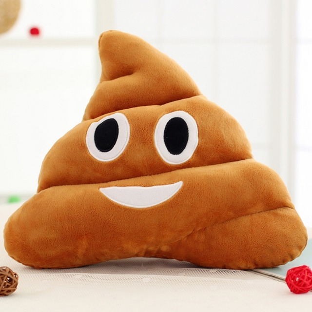 Hot Sales 18CM /25CM Cute Stuffed Plush Toy Doll Poop Pillows Poo Cojines Coussin Emotion Pillow Cushion Emoji Pillows LM76
