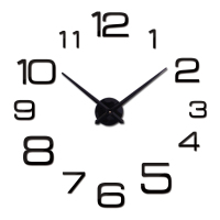 new hot quartz sale quiet wall clock interesting 3d diy home decor clocks roman numeral art stickers single wall watches