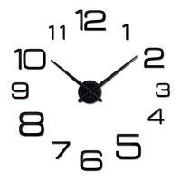 new hot quartz sale quiet wall clock interesting 3d diy home decor clocks roman numeral art stickers single wall watches