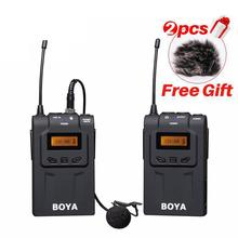 BY-WM6 Ultra High UHF Wireless Lavalier Omni-directional Microphone System for DSLR Camera Canon 6D 5D2 5D3 Nikon Sony