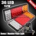 Par 12 V 36 LED cauda luzes de indicador de reboque do caminhão ônibus