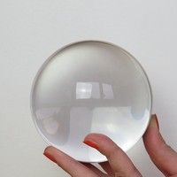 70mm Clear Crystal Glass Ball Paperweights Figurine Feng Shui Crystals Products For Home Decor crafts