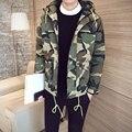 Nova chegada 2016 moda camuflagem de algodão acolchoado jaqueta de inverno dos homens homme parka com capuz roupas masculinas tamanho m-5xl MF9