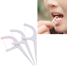 2019 50pcs/lot Dental Flosser Oral Hygiene Sticks Water Floss Teeth Pick Tooth Picks with Portable Case