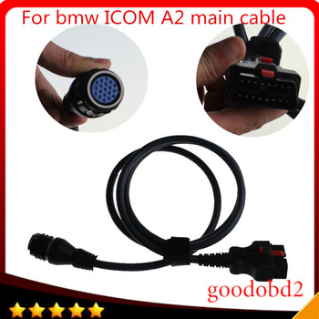 For BMW ICOM A2 Interface OBD Main Cable 16pin to 19pin diagnostic tool car cable ICOM A2+B+C Coding Diagnostic Cables 2018 for bmw car and motorcycle diagnostic tool for bmw icom a2 b c d without software 4in1 best quality
