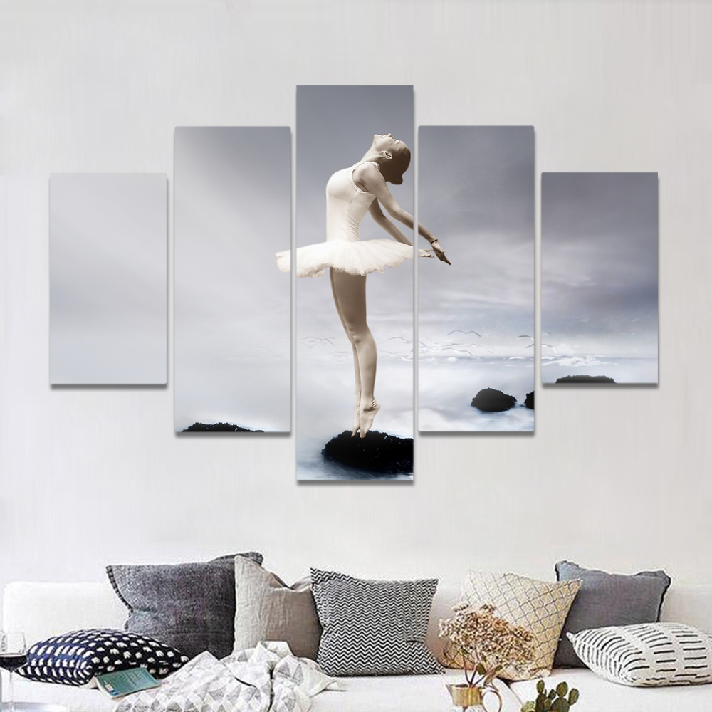 Unframed Canvas Art Painting Ballet Dancing Girl In The Sky Picture Prints Wall Picture For Living Room Wall Art Decoration