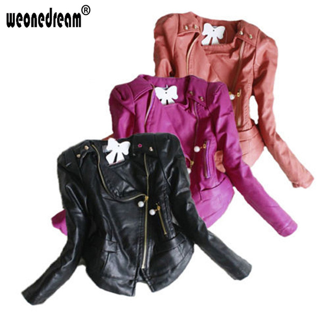 000bb8b1 WEONEDREAM Baby Girl Clothes Toddlers Winter Faux Leather Jacket Long  Sleeves Outerwear 2018 Girls Zipper Coats Kids Clothes