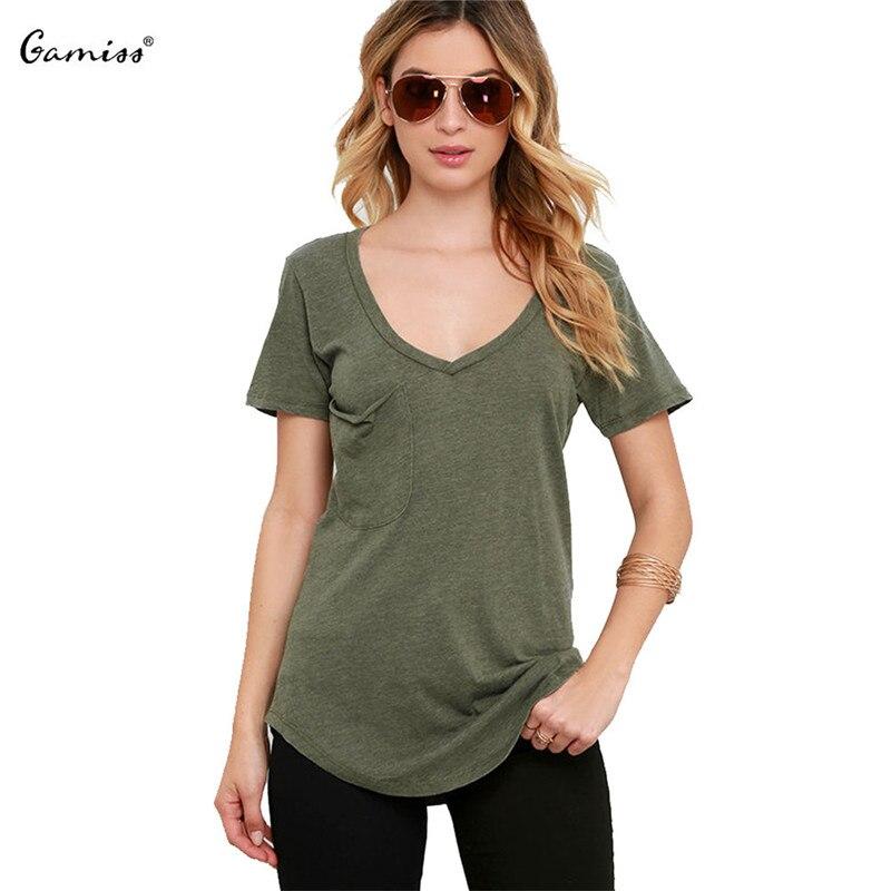 Buy gamiss 2016 new arrival short sleeve for Best v neck t shirts women s