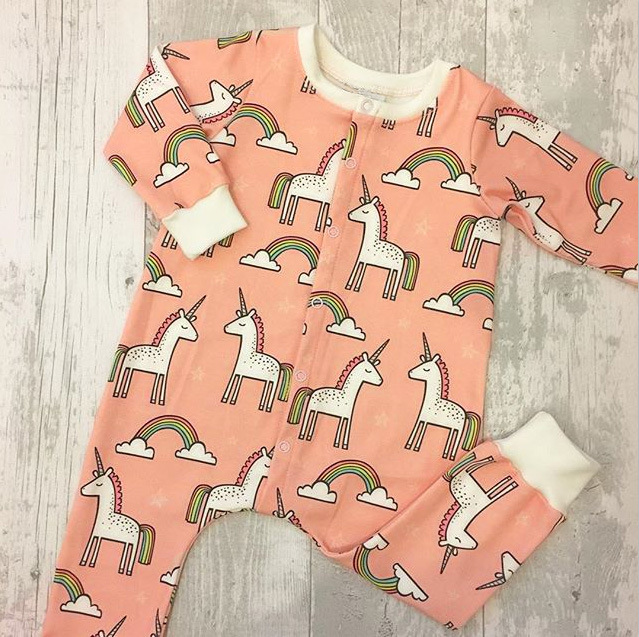 2018 Newborn Baby Clothes Spring New Baby Cartoon Unicorn Rompers Long Sleeve One-pieces Rainbow Jumpsuit Baby Boy Girl Clothing mother nest 3sets lot autumn baby boy clothes toddle jumpsuit long sleeve baby clothing set one piece boys bodies suits rompers