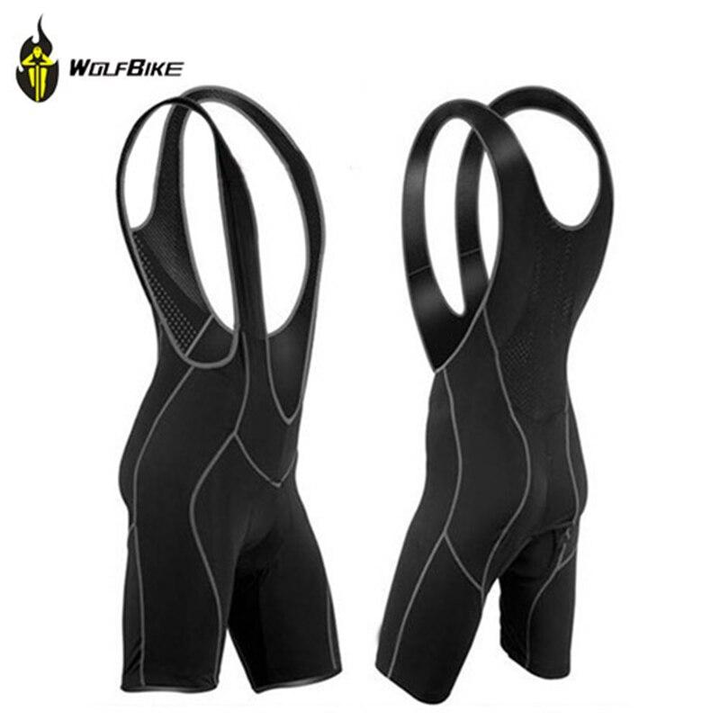 WOLFBIKE Mens Cycling Bib Shorts Pants Cycle Wear Clothing Braces Tights Bicycle Bike Vest Shorts 3D Coolmax Pad Chothes M 3XL
