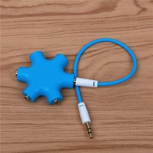 Image 3 - QQQRGB 3.5mm אודיו Aux כבל ספליטר 1 זכר 5 נקבה אוזניות יציאת 3.5 שקע לשתף מתאם עבור Tablet MP3 MP4 נייד טלפון