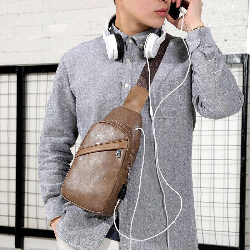 Mens Chest Bag Shoulder Messenger Sling Bag Crossbody Sport Handbag Cross Body