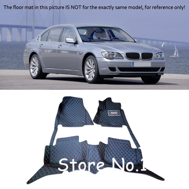For BMW 7 Series 2005 2008 Custom Waterproof Auto Car Styling Car Floor Mats Accessories Pads