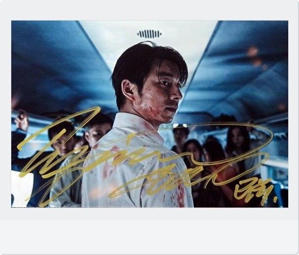 купить Gong Yoo autographed signed photo TRAIN TO BUSAN 4*6 inches freeshipping 02.2017 01 недорого