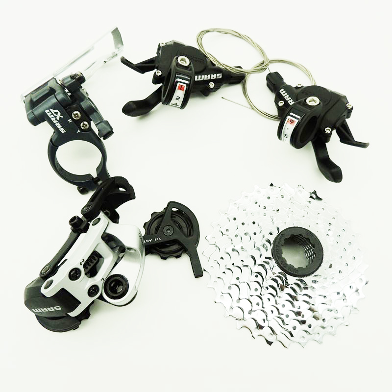 Здесь можно купить  SRAM S500 x7 27 SPEED goupset shift derailleurs chain wheel  mtb mountain bike groupset  Спорт и развлечения