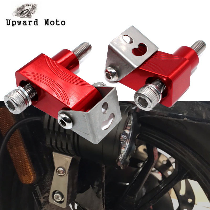 For <font><b>HONDA</b></font> NC750S <font><b>NC750X</b></font> NC700S/X VFR800 VFR750 RC51 ST1300 Motorcycle Lower Fork Spotlight Holder <font><b>Lights</b></font> lamp Mounting bracket image