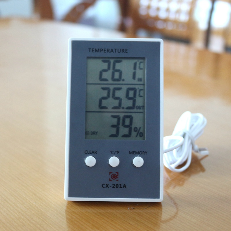 New LCD Digital Indoor Outdoor Thermometer Indoor Hygrometer Temperature Humidity Meter with temp sensor indoor air quality pm2 5 monitor meter temperature rh humidity