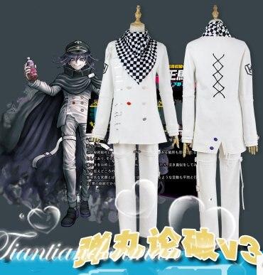 Danganronpa V3 Ouma kokichi Cosplay Costume Game School Uniform Suit Outfit Clothes