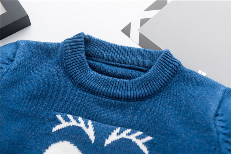 Moda uşaq kazak payız qış isti oğlanlar trikotaj tursweaters - Uşaq geyimləri - Fotoqrafiya 4