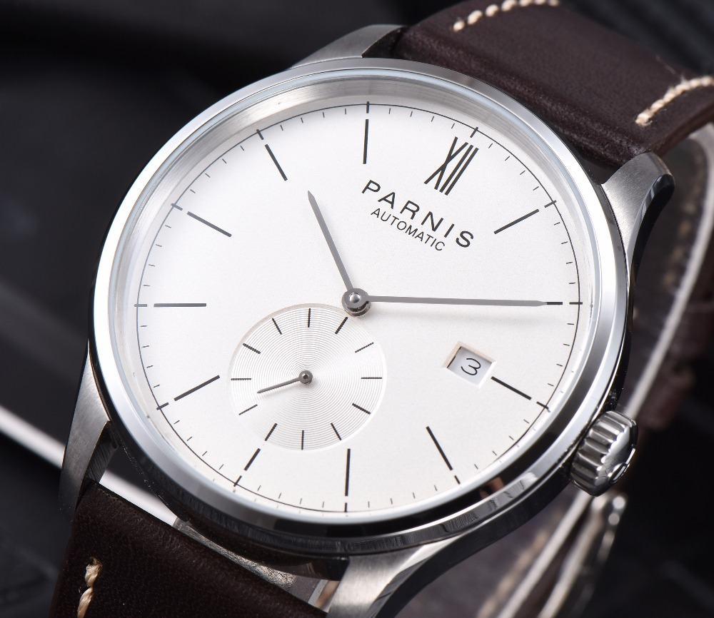 Image 5 - Parnis Mechanical Watches Diver Minimalist Watch for Men Wristwatch Luxury Waterproof Automatic hombre Relogio Masculino 2019-in Mechanical Watches from Watches
