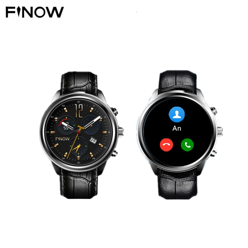 FINOW X5 AIR 3G Smartwatch Phone 1.39 Inch Android 5.1 MTK6580 Quad Core 1.3GHz 2GB RAM 16GB ROM GPS Bluetooth 4.0 Pedometer no 1 d6 1 63 inch 3g smartwatch phone android 5 1 mtk6580 quad core 1 3ghz 1gb ram gps wifi bluetooth 4 0 heart rate monitoring