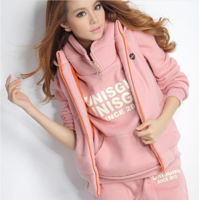 3pcs Suit Winter Warm Hooded 4